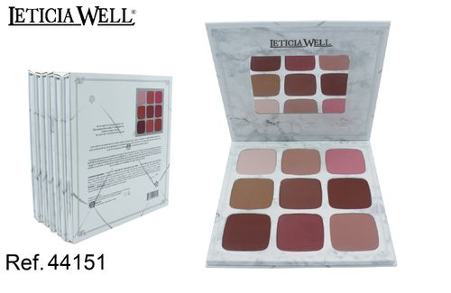PALETA DE COLORETES CARLI BYEL (1.85€ UNITE) PACK 6 LETICIA WELL