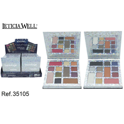 PALETTE OMBRE À PAUPIERES BACKSTAGE (2.09€ UNITE) PACK 12 LETICIA WELL
