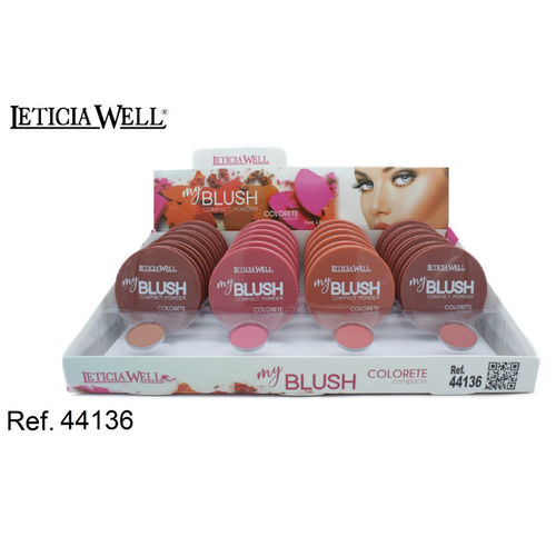 FARD À JOUES MY BLUSH 4 COULEURS (0.68€ UNITE) PACK 24 LETICIA WELL