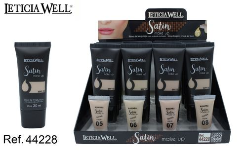 BASE DE MAQUILLAJE 4 COULEURS(0.75€ UNIDTE) PACK 16 LETICIA WELL
