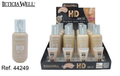BASE MAQUILLAJE HIGH DEFINITION (1,09 € UNITE)PACK 16 LETICIA WELL
