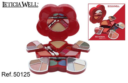 COFFRET DE MAQUILLAGE RED PASSION LETICIA WELL