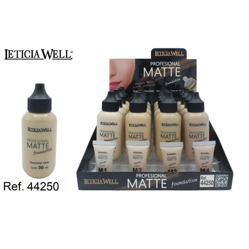 FOND DE TEINT MATTE 4 COULEURS (1.15€ UNITE) PACK 16 LETICIA WELL
