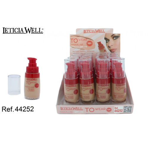 FOND DE TEINT 4 COULEURS TO WEAR 12H. 30ML.(1.15€ UNITE) PACK 16 LETICIA WELL