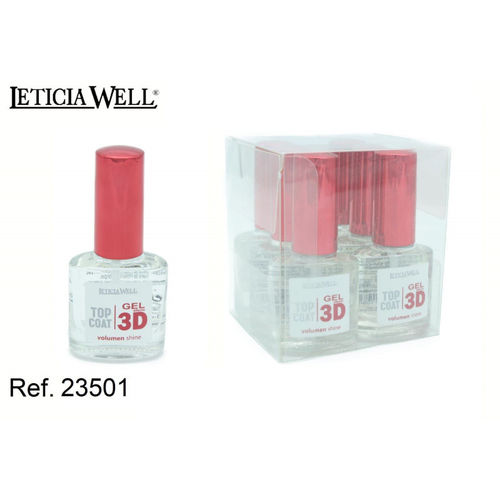 VERNIS À ONGLES TOP COAT 3D EFFET GEL (0.65 € UNITÉ) PACK 6 LETICIA WELL