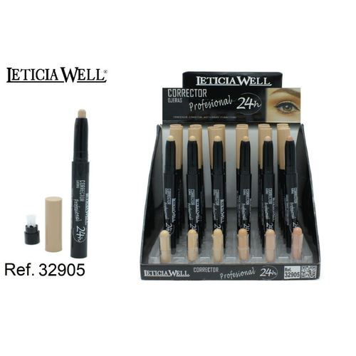 CORRECTOR PROFESIONAL 24H. 13CM. (0.59€'UNIDAD) PACK 24 LETICIA WELL