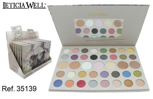 PALETTE DE MAQUILLAGE COMPLETE (5.0€ UNITE) PACK 6 LETICIA WELL