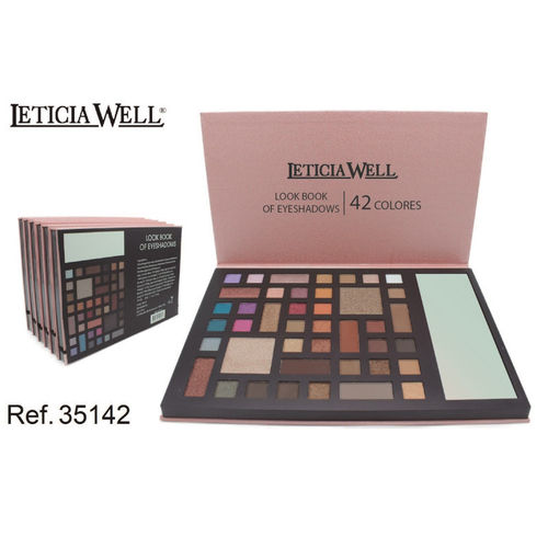 PALETTE OMBRE À PAUPIERES LOOK BOOK (4,90€ UNITE) PACK 6 LETICIA WELL
