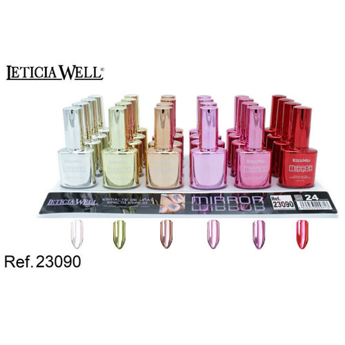 VERNIS À ONGLES EFECT MIRROR 6 COULEURS (1,25€ UNITE) PACK 24 LETICIA WELL