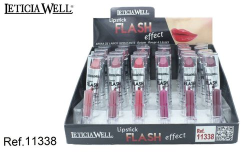 LIPSTICK EFFET FLASH 6 COULEURS (0.50 € UNITE) PACK 24 LETICIA WELL