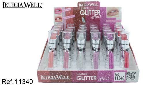 LIPSTICK GLITTER EFFECT (0.49€ UNITE) PACK 24 LETICIA WELL