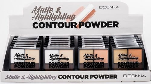 MAQUILLAGE COMPACT MAT HIGHLIGHTING (0.73€ UNITE) PACK 24 D'DONNA