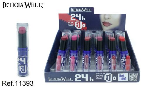 ROUGE À LEVRES LONG LASTING 24H. 6 COULEURS (0.69€ UNITE) PACK 24 LETICIA WELL