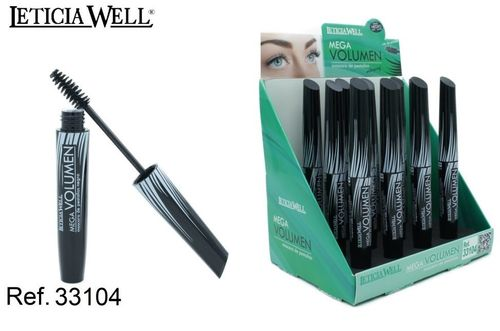 MASCARA NOIR MEGA VOLUME (0.59€ UNITE) PACK 12 LETICIA WELL