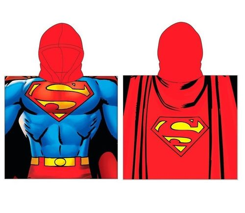 cape de bain polyester Superman 55x110cm