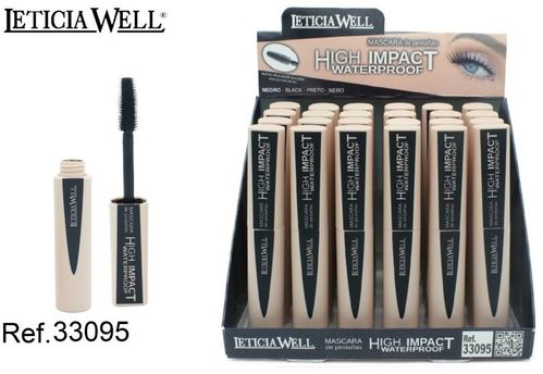 MASCARA NOIR HIGH IMPACT (0.82 UNIUTE) PACK 24 LETICIA WELL