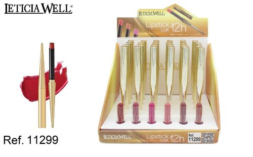 LIPSTICK LUX 12H. 6 COLORES (0.75€ UNIDAD) PACK 24 LETICIA WELL