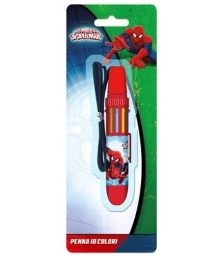 stylo 10 couleur Spiderman