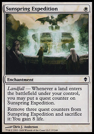 EXPEDICION A LA FUENTE SOLAR / SUNSPRING EXPEDITION (ZENDIKAR)