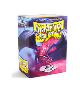 PAQUETE DE FUNDAS DRAGONSHIELD COLOR PURPURA MATE (100 FUNDAS)