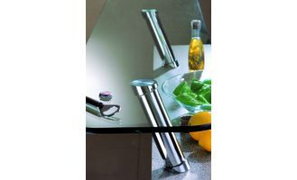 CONSOLE DE BAR ACIER CHROME