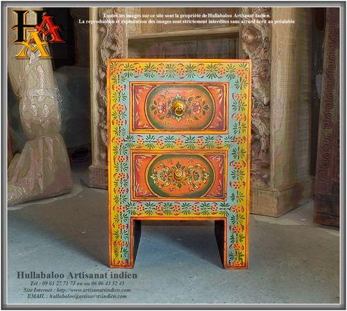 Meubles indiens d coration indienne artisanat d 39 asie - Chevet indien ...