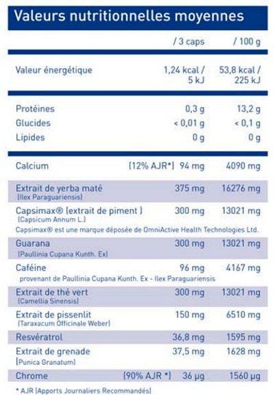 Lipitek - Informations Nutritionelles
