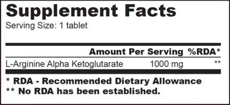 AAKG 1000 Informations Nutritionnelles - Biotech USA