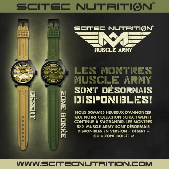 Montre Muscle Army Scitec