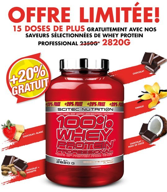 Scitec Whey PROTEIN Professional - 2820g OFFRE LIMITEE