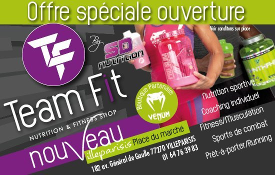 SD Nutrition - Team Fit - Boutique Proteines Villeparisis