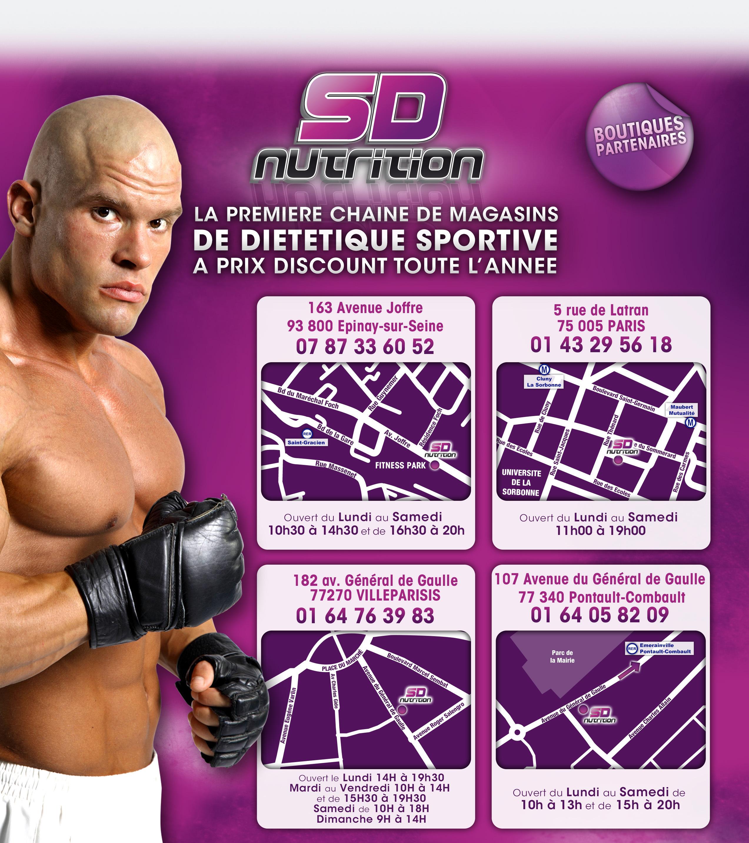 SD NUTRITION - Boutiques de Dietetique Sportive, Protéines et compléments alimentaires à PARIS