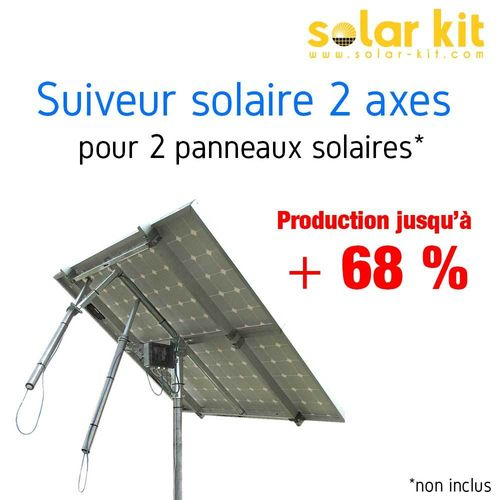 DUAL AXIS SUN TRACKERS FOR 2 SOLAR PANELS