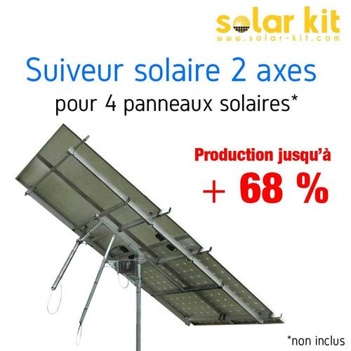 DUAL AXIS SUN TRACKERS FOR 4 SOLAR PANELS