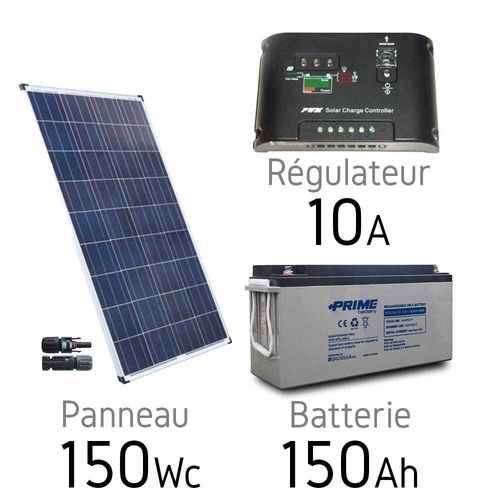 Solar kit 12v 150Wc + battery 150Ah