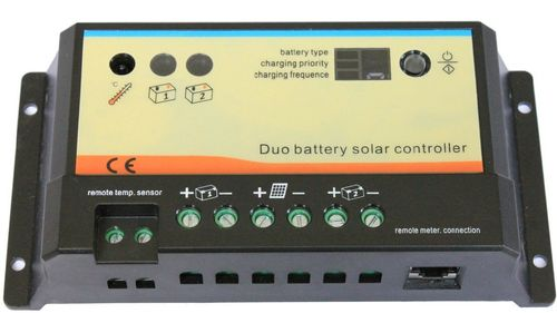 Charge controller 10A 12-24V Dual Battery