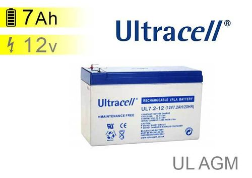 Batterie solaire AGM 12v 7Ah Ultracell UL