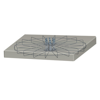 Iron-reinforcement cage for foundation of tracker 15 solar panels