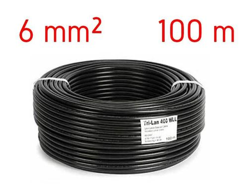 Solar cable 6 mm² - 100 meters - red or black