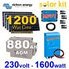 Kit solaire 1200Wc sortie 230V 1600W VICTRON