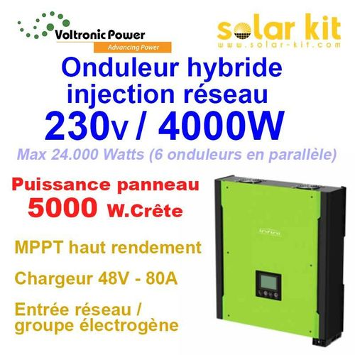 Hybrid Inverter on-grid 230V 4000W 48V MPPT 5000Wp