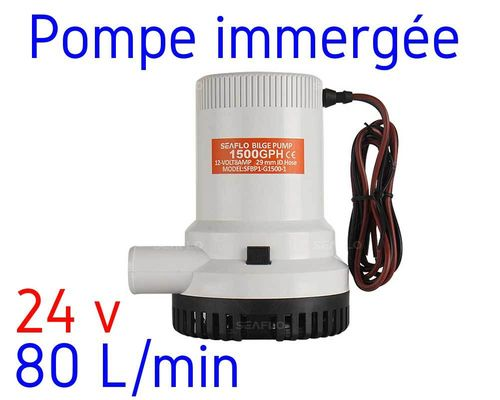 Water pump 24V - 80 liters per min