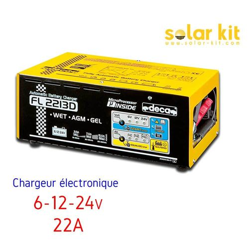 Battery charger 22A 6-12-24V Deca