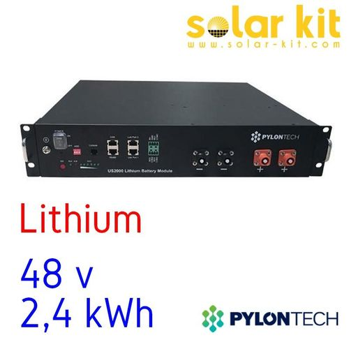 Batterie Lithium US2000 Plus 2.4kWh 48V Pylontech