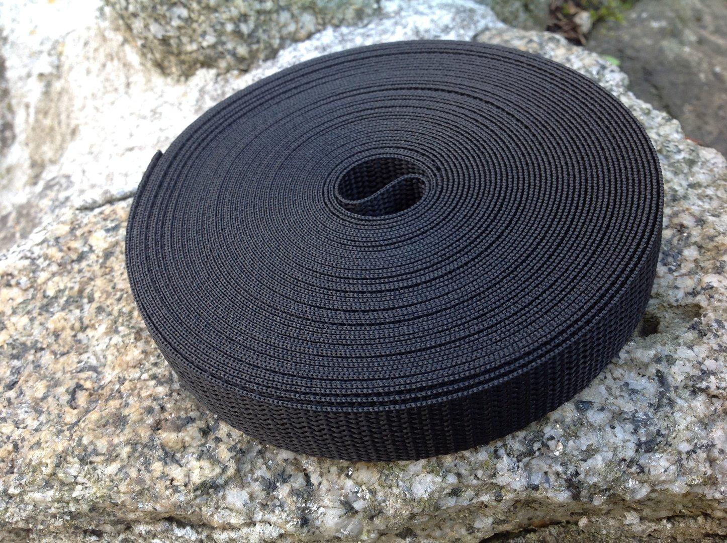 "Polypropylene Webbing 100 Metre  x 20mm 3//4/"" Blue Black"