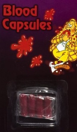Fake Blood Capsules - Halloween