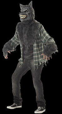 Full moon werewolf costume with mask