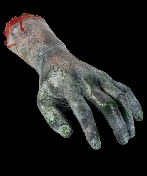 Severed zombie Hand Life size prop - Halloween