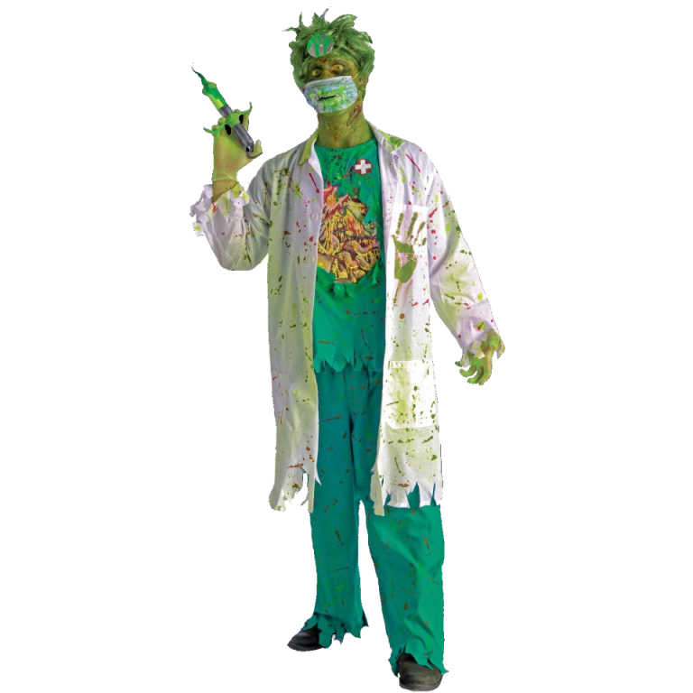 Zombie Doctor costume with mask - Halloween