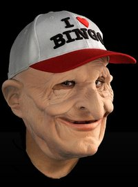 I love bingo male funny Halloween horror mask and hat